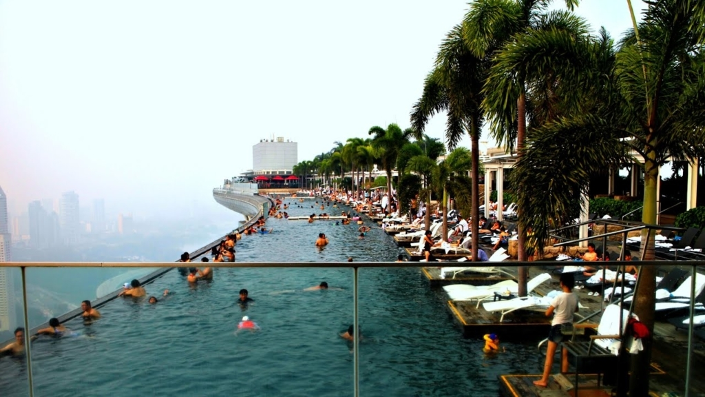 Construção de Piscinas - Marina Bay Sands (Singapura)